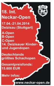 Werbebanner 18. Int. Neckar-Open 2014